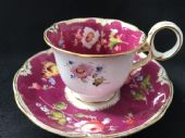 SOLD- MINTON coffee cup & saucer hand painted